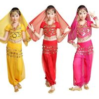 Girls Kids Belly Dance Top Pants Suit Outfit Children Bollywood Carnival Costume