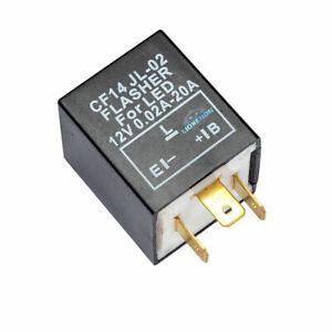 Fix Flash Rate Turn Signal Flasher Relay LED Indicator Bulbs (3 PIN CF14 JL-02)