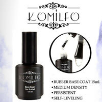 KOMILFO LED / UV  Rubber Base Coat 15ml Soak off ORIGINAL