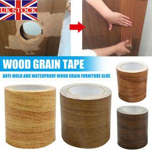 5M Realistic Woodgrain Repair Adhensive Duct Tape DIY HomeDecor For Furniture-UK