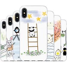 dessana Scribble TPU Silikon Schutz Hülle Case Handy Tasche Cover für Apple