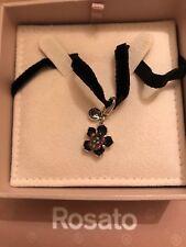 Collana con ciondolo ROSATO gioielli in argento 925 - RSE034 Nuovo con garanzia
