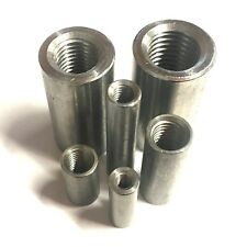 Round Threaded Studding Connector Nuts A2 Stainless Steel Allthread Tube Sleeve