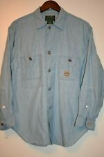 Vintage Ralph Lauren Polo Country mens light blue denim shirt M