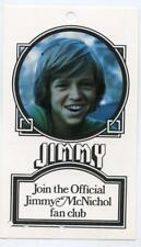 Vintage 1979 JIMMY McNICHOL Photo Fan Club Card Order Form/Small Pin-up
