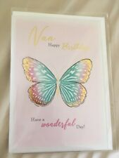 NAN Happy Birthday Card BRAND NEW SEALED Envelope Have A Wonderful Day Butterfly
