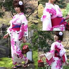 Yukata Set - Japanese Summer Kimono with Accessories - Light Pink