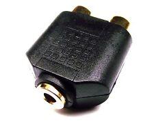 "From OZ Quality 1PC 2 RCA Female Socket to 3.5mm 1/8"" Female Socket Adaptor +FP"