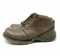 Mens Caterpillar Brown Leather Lace Up Shoes UK 7 Wide Fit