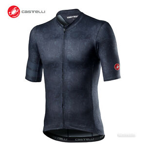 NEW 2021 Castelli MAISON Short Sleeve Cycling Jersey : DARK STEEL BLUE