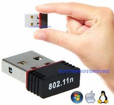 ✔ANTENNA NANO MINI USB WIRELESS WIFI CHIAVETTA WI-FI PENNA 300 n Mbps ADATTATORE