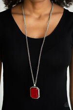 Paparazzi ~ Let Your HEIR Down Red Necklace Set