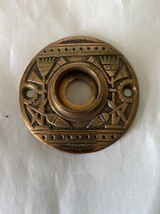 Antique Entry Large Size Nashua Cast Brass   Rosette #3