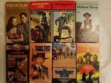 Lot of 8 Classic Western VHS Films Roy Rogers Lee Van Cleef Charles Bronson