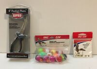 Fishing Bundle Rapala Panfish Pliers , Eagle Claw Bobbers , And Hooks,