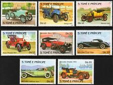 1983 St Thomas & Prince Car Stamp Set (Mercedes-Benz/Rover/Morris/Renault)