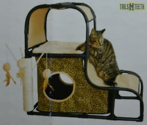 """Kittyland Hideaway Play Tower - for Cats Up To 8kg - 80 x 40 x 70 cm (32x16x28"""")"""