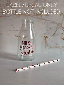 Vinyl Label And Straw For Milk For Santa Bottle