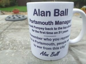 Alan Ball Portsmouth manager tribute mug 11oz brand new Christmas Gift