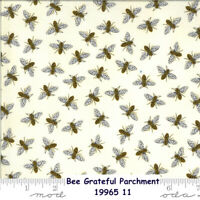 MODA BEE Grateful Honey Bees 100% cotton fabric by the yard Parchment 19965 11