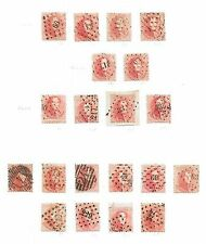 Belgium stamps 1863 Collection of 20 stamps  Cat Value $720+