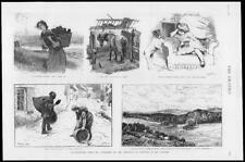 1886 Fine Art Antique Print - Illustrations Small Elsley Burton Barber (251)