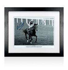 More details for framed lester piggott signed photo autograph