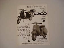 advertising Pubblicità 1982 VESPA 125 PK/PX e FACO