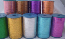 8 Spools of LUREX Holographic High Quality Thread 3000 Mtrs each 8 Diff. Colours
