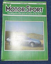 Motor Sport April 1985 Citroen CX 25, Bugatti 38A, Alfetta, Toyota MR2