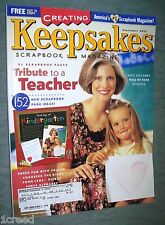 Keepsakes Scrapbook Magazine TEACHERS 2001 Patterns Back Issue Crafts Projects
