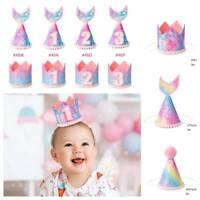 Kids Girl Boy Birthday Party Hat Glitter Sparkle Coloful Crown Pageant Headwear