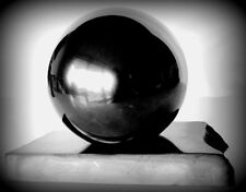 Shungite Polished SPHERE BALL150 mm/5.91 in.from. Karelia RUSSIA on a support