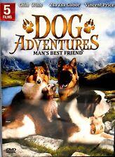 DOG ADVENTURES, 5 MOVIES, NEW DVD,FREE SHIP , GEORGE,POCO, MOOCH GOES HOOLYWOOD