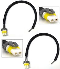 Extension Wire Pigtail Female Ceramic 9005 HB3 Two Harness Head Light Plug OE