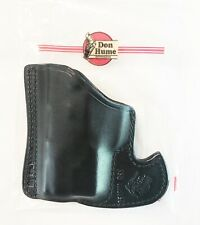 Ruger LCP Leather Pocket Holster DON HUME BLACK WITH LASER