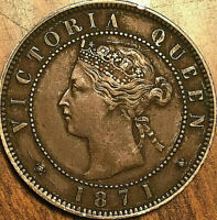 1871 PEI LARGE 1 CENT PENNY COIN - Nicer example!