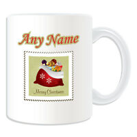 Personalised Gift Christmas Sack Stamp Mug Money Box Cup Tea Coffee Xmas Present