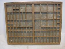 L-8 OLD PRINTERS TRAY INK DRAWER WOOD SHADDOW BOX NICK KNACK SHELF