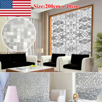 Anit-UV 3D Window Film Stripe Privacy Static Cling Glass Door Sticker Home Decor