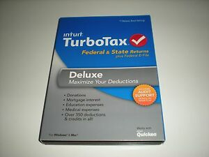 Turbotax 2013 Deluxe. Federal and State + Federal E-file. New in sealed box.