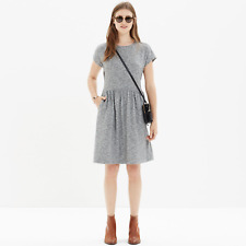 Madewell Gray Heathered Jersey Dress Shoulder Zipper Sz S NWOT