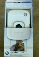 NEW White HP Sprocket 2 In 1 Portable Instant Camera And Printer