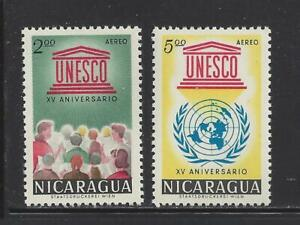 NICARAGUA - C502-C508 - MNH/MH - 1962 - 15TH ANN UNESCO, ANTI-MALARIA CAMPAIGN