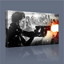 RESIDENT EVIL MILLA JOVOVICH IN ACTION FABULOUS ICONIC CANVAS PRINT Art Williams