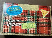 """1953 WHITMAN """"MY DOLLS TAKE A TRIP"""" SET NO. 3 w/ 4  PAPER DOLLS SUITCASE #5608"""