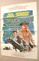 Filmplakat,PLAKAT,MIT DYNAMIT UND FROMMEN SPRÜCHEN,JOHN WAYNE,K.HEPBURN-32