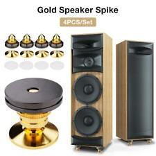 4PCS Speakers Stand Floor Foot Nail Foot Golden Spikes Speaker Pad Loudspeaker