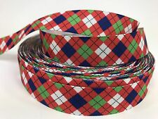 By The Yard 5/8 Inch Paisley Design Christmas Grosgrain Ribbon Hair Bows Lisa