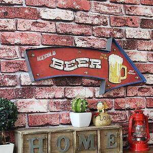 Retro Hang Sign Led Light Beer Alcohol Party Bar CLub Home Store Decor Wall Art